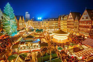 Marché de Noël à Francfort-sur-le-Main, Hesse, Allemagne sur Natasja Tollenaar
