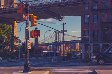 De bruggen in Dumbo New York 12 van FotoDennis.com