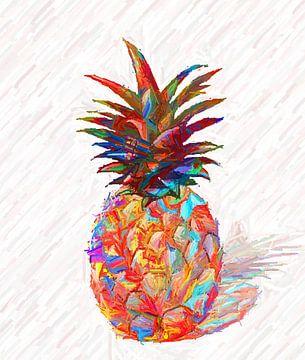 Abstracte ananas van Marion Tenbergen