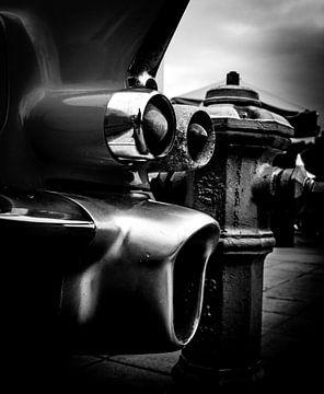 alten amerikanischen Autos, Rückseite mit Flügel des