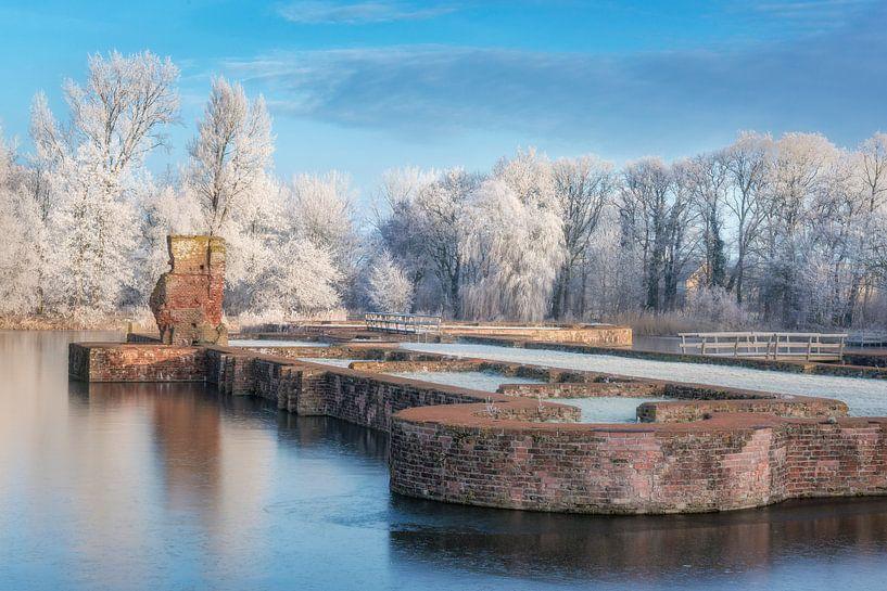 Winterse slotgracht van Fotografie Egmond