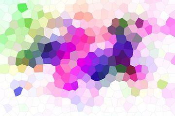 Modernes, abstraktes digitales Kunstwerk Pixel Diamanten von Art By Dominic