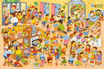 Ein Tag im Kindergarten von