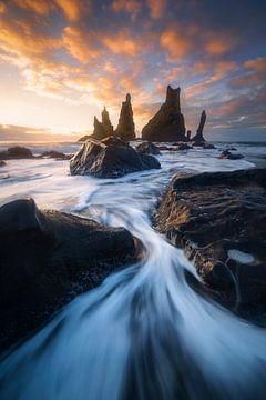 Vik, IJsland von Sven Broeckx