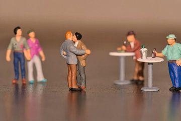 Miniaturen, die Liebe des Mannes porträtiert von J..M de Jong-Jansen