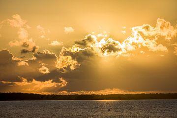 Sonnenuntergang in Prerow an der Ostsee von Christian Müringer