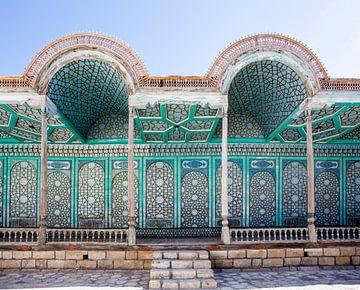 Galerie des Palastes des Emirs, Mohihosa, in Buchara, Usbekistan, Zentralasien von WorldWidePhotoWeb