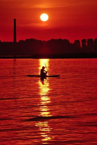 Sunset@DeLemmerbaai van Harrie Muis