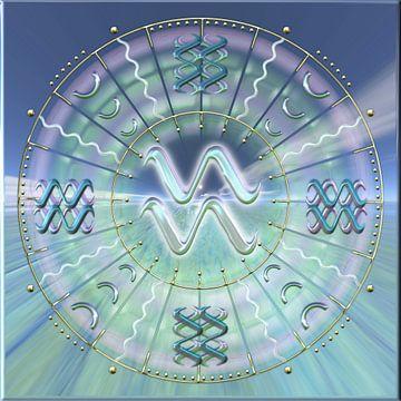 Zodiaque Aquarius sur Shirley Hoekstra