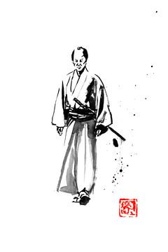 laufender Samurai von philippe imbert