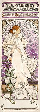 Dame mit Kamelien, Sarah Bernhardt, Alphonse Mucha (1896)