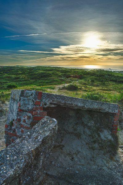 Remains of WO II Bunker North Sea von Waterpieper Fotografie