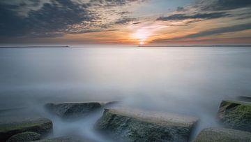 Dromerige zonsondergang
