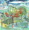 Saisonale Landschaft - Frühling von Ariadna de Raadt-Goldberg Miniaturansicht