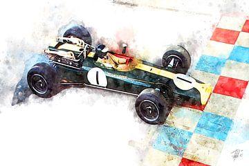 Jim Clark, Lotus 43, 1966 von Theodor Decker