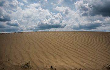 Wekeromse Zand-zandverstuivingen, wolken en lijnen van Cilia Brandts