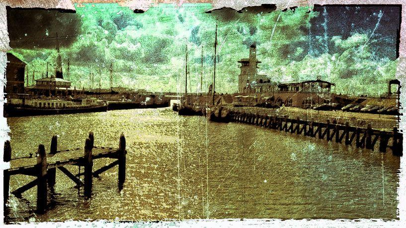 Harlingen haven. van PictureWork - Digital artist