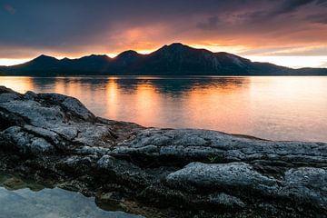 Sonnenuntergang am Walchensee von Martin Wasilewski
