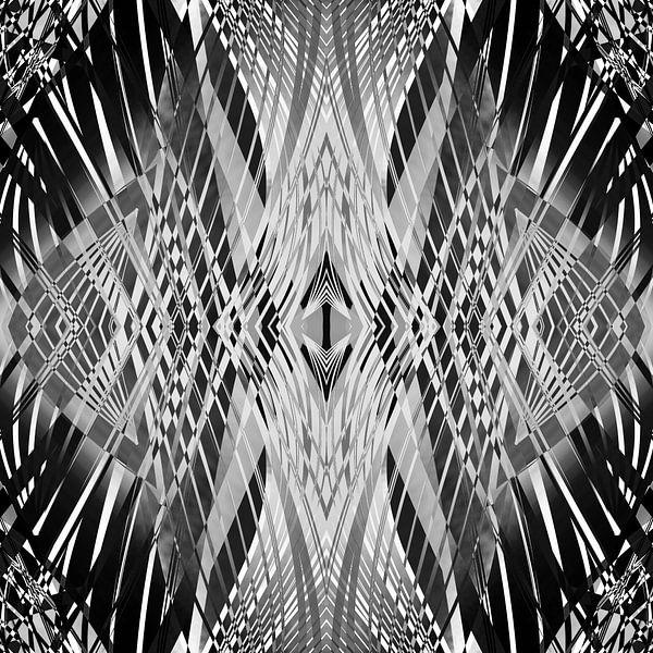 PRETTY BLACK & WHITE LINE PATTERN van Pia Schneider