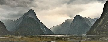 Epic Milford Sound - Piopiotahi - Nieuw-Zeeland - Schilderij