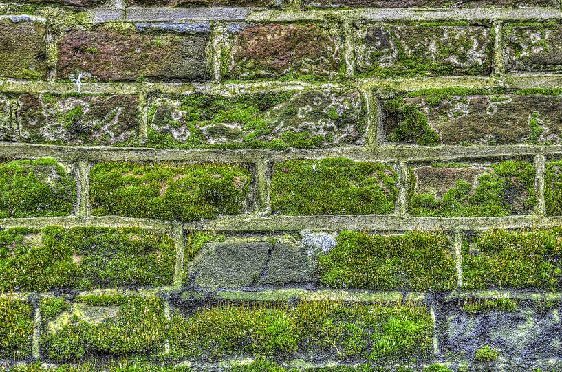Druppels op een stadsmuur van Frans Blok