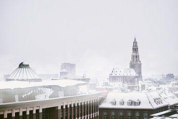 Die A-Kirche in Groningen im Winter. von Elianne van Turennout