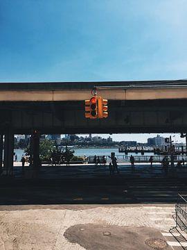 Typisch beeld amerikaans stoplicht USA van Puck vn