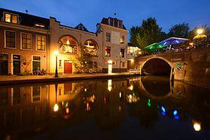 Oudegracht met Bijlhouwersbrug in Utrecht