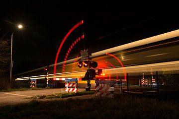 lichtshow spoorweg dynamiek van FotoBob