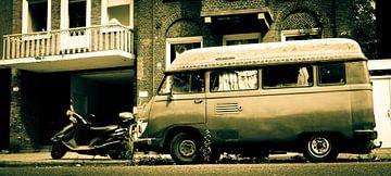 Oude camper in Amsterdam von Jos van Ooij