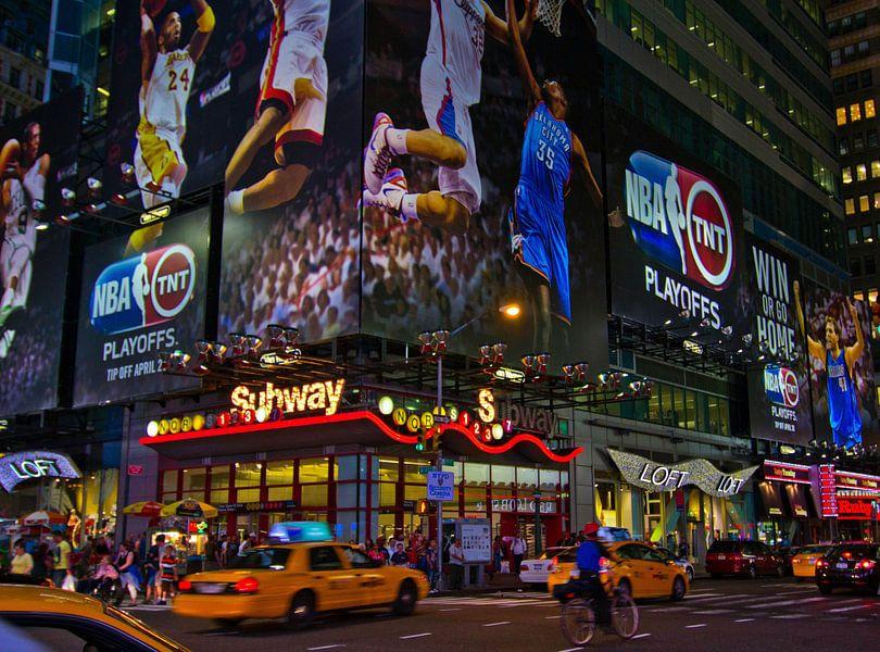 Time Square in New York; van Tonny Visser-Vink