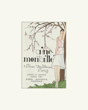 Spring | Lente, historische advertentie | Vintage Art Deco mode prent van NOONY