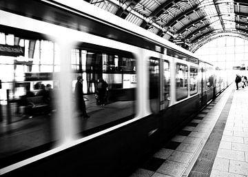 S-Bahn Berlin Zwart-wit fotografie sur