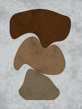 Balans - Abstract organische vormen van Maurice Dawson
