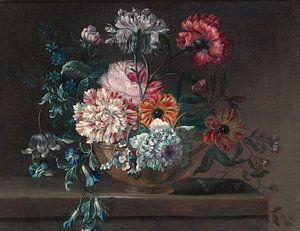 Jean-Baptiste Monnoyer, Stilleven van anjers en andere bloemen