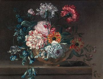 Stillleben mit Nelken und anderen Blumen, Jean-Baptiste Monnoyer von Meesterlijcke Meesters