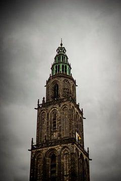 Martinitoren vanaf de Grote Markt van Hessel de Jong