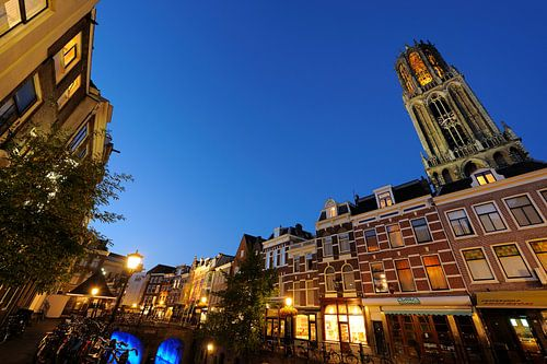 De Vismarkt aan de Oudegracht in Utrecht van Donker Utrecht
