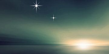 Venus und Merkur in Elongation van Bernd Vagt