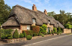 Englisches Cottage mit Reetdach, in Cambridgeshire, England