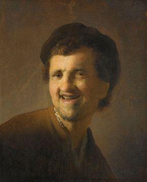 Lächelnder junger Mann, Rembrandt van Rijn