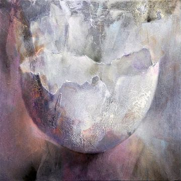 La coquille d'œuf - des structures vivantes en gris et rose