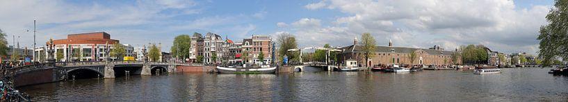 Panorama der Amstel von Sander de Jong