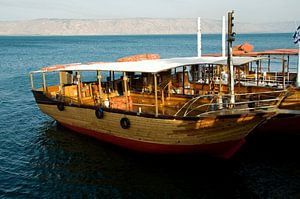boat on the lake of Tiberias