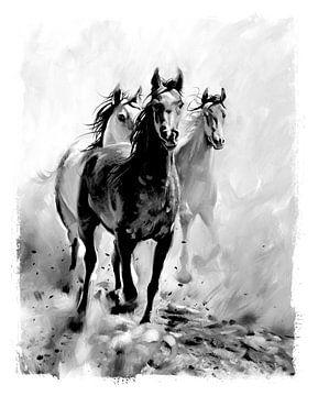 Kinderkamer poster - Paarden - Meisjeskamer von AMB-IANCE .com