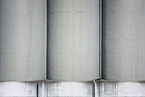 Gigantische betonnen silo's
