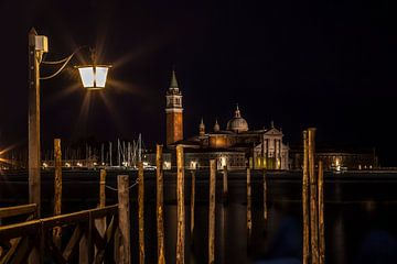 VENICE San Giorgio Maggiore at Night van Melanie Viola
