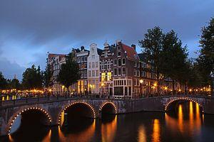Leidsegracht in Amsterdam van Ada Zyborowicz