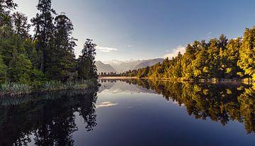 Lake Matheson, Nieuw Zeeland sur Studio W&W