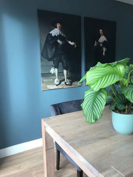 Photo de nos clients: Marten Soolmans van Rembrandt van Rijn sur Marieke de Koning, sur toile